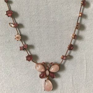 Jewelry - Rose gold chain and pink opal necklace